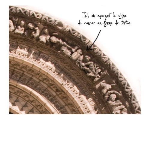 détail portail de l'église saint Léger
